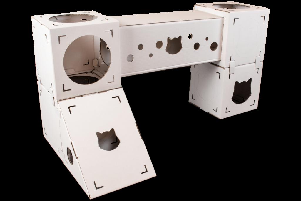 KittyPits Set Explore, Adventure, Karton, Katzenkarton, Katzenhöhle, Katzenbox, Katze im Karton, Katzenhaus